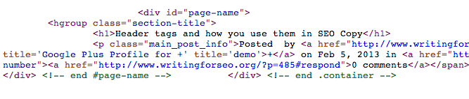 h1 tagging Header tags and how you use them in SEO Copy